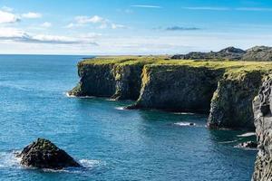 Blick auf die Westküste Islands foto