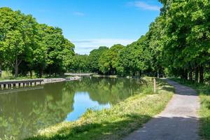 Panoramablick auf den Gota-Kanal in Schweden foto