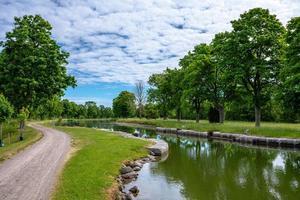 Teil des Gota-Kanals in Schweden foto
