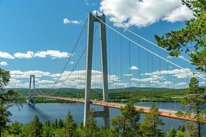 Hängebrücke in Schweden foto