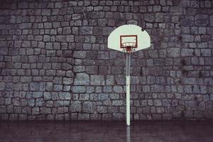 Straßenbasketballkorb Sportausrüstung foto