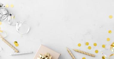 schönes Geburtstagskonzept mit Kopierraum foto