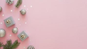 schönes Weihnachtskonzept mit Kopierraum foto