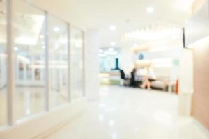 abstrakte Unschärfe und defokussierte Klinik und medizinisches Krankenhausinnere foto