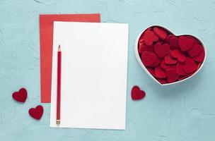 flach lag schönes Valentinstagskonzept foto