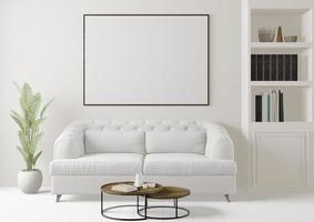 modernes großes Wohnzimmer, 3D-Rendering foto