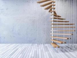 3D-Treppe von Kabeln gehängt foto