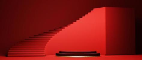 Podium, Sockel oder Plattformhintergrund, 3d rendern foto