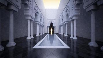 3D-Rendering-Bild des modernen islamischen Stils foto