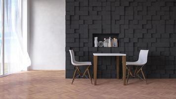 Wohnzimmer, 3D-Rendering foto
