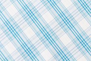 strukturierter Stoff mit weißen blauen Streifen foto