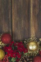 hölzerner Weihnachtshintergrund foto