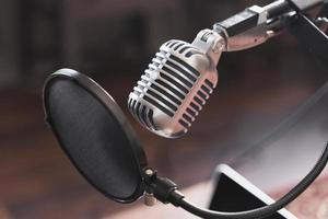 Mikrofon Interview Nahaufnahme foto