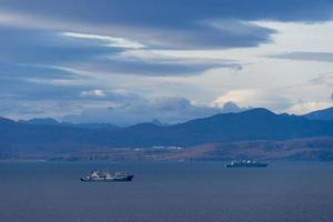 Seelandschaft mit Blick auf die Bucht von Avacha. petropavlovsk foto
