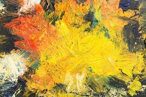 Draufsicht künstlerische Kopie Raum abstrakte Malerei foto