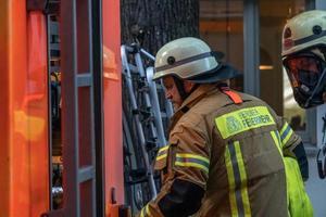 berliner feuerwehr Feuerwehrleute foto