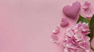 Draufsicht Valentinstag mit Kopierraum. schöne Qualität und Auflösung schönes Fotokonzept foto