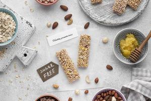 zuckerfreies Snackbarsortiment foto