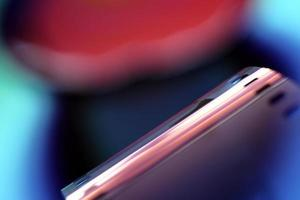 verschwommenes Bild eines 35-mm-Fotofilms foto