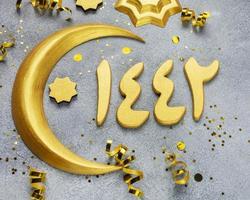 islamische Mond- und Sterndekorationen foto