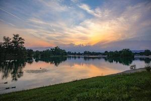 Jarun See Sonnenuntergang foto