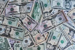 Geld Hintergrund von uns Dollar foto