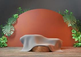 3D-Rendering der sauberen Produktpodestplattform foto