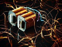 Stromwandler mit Kupferdraht foto
