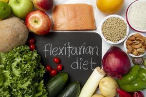 Hintergrund der Zusammensetzung der flexitären Diätnahrung foto