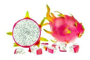 schöne rosa Drachenfrucht oder Pitaya foto