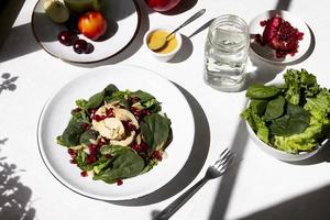 Vollwertkost Diät Lebensmittelzusammensetzung Hintergrund foto