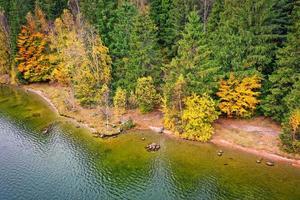 Blick auf die Küste von der Drohne foto