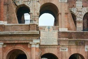 das Kolosseum in Rom, Italien foto