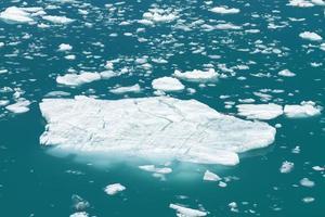 Eisberg schwimmt im Tracy Arm Fjord in Alaska foto