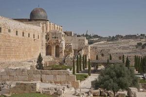 Al Aqsa El Marwani Salomonen Stall Moschee in der Altstadt von Jerusalem in Israel foto