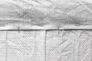 horizontale Hintergrundbeschaffenheit der Jutetasche oder der Sackleinen foto