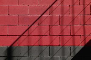 alte rote Mauer des Gebäudes foto