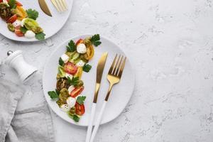 schöne Auswahl an leckerem Essen foto