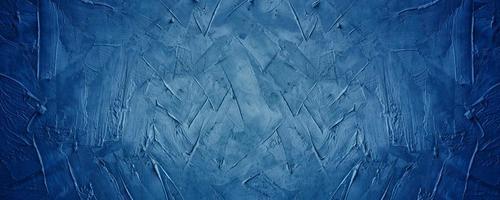 horizontaler dunkelblauer Grunge-Texturzement oder leerer Hintergrund des Betonwandbanners foto