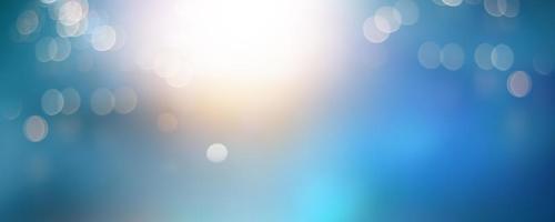 horizontaler blauer Hintergrund mit Bokeh foto
