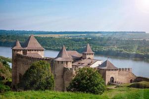 khotyn fortess schloss in der ukraine foto
