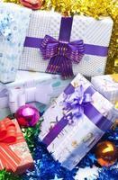Geschenkboxen Hintergrund foto