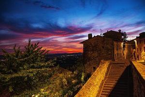 Sonnenuntergang in Assisi foto