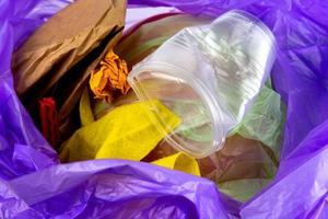 Konzept von Müll und Umweltverschmutzung foto
