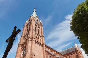 katholische kirche der annahme der seligen jungfrau mary palanga litauen foto