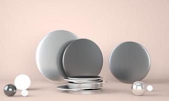 Produktpodest auf Pastellhintergrund foto