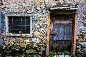 Türblume und Fenster foto