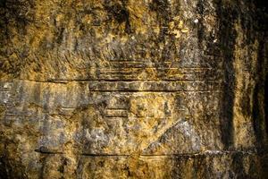 Streifen auf dem Felsen foto