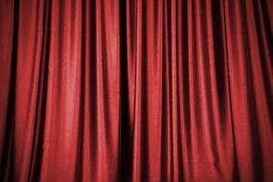 roter Bühnenvorhanghintergrund foto