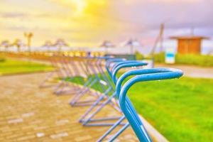 Fahrradstellplätze am Meer foto